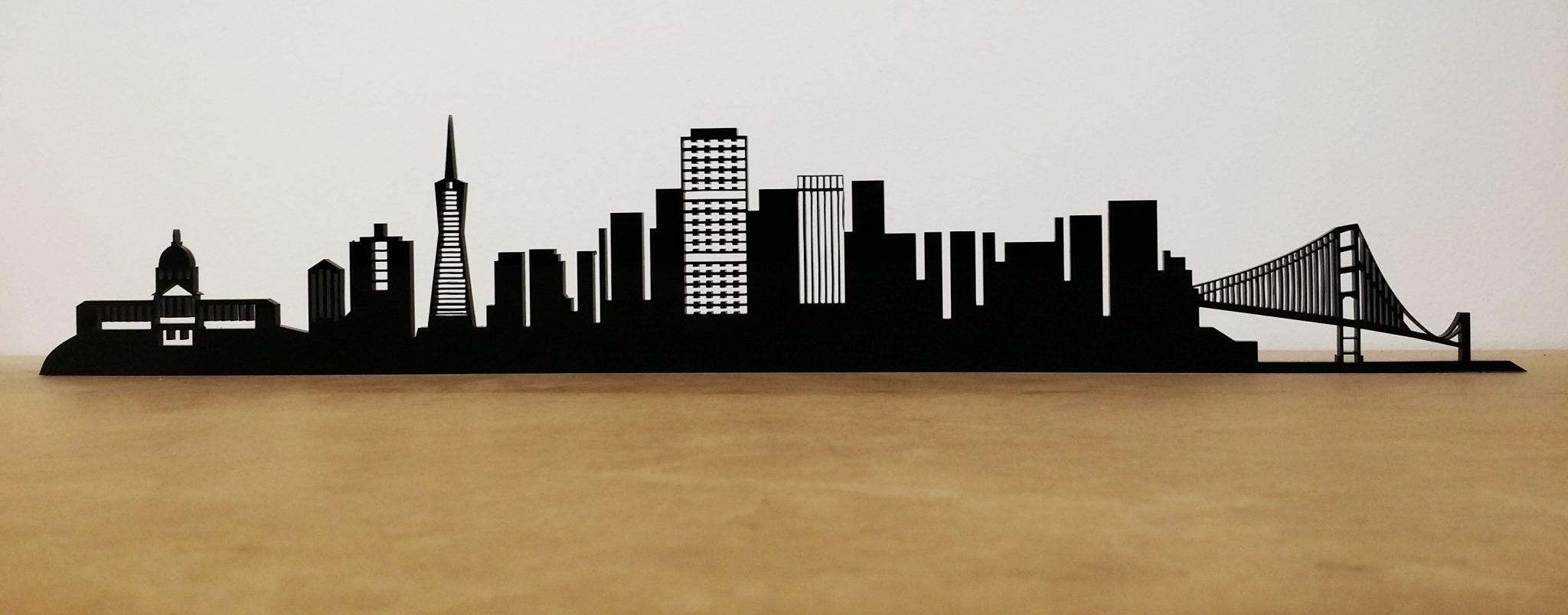 corte láser metacrilato skyline