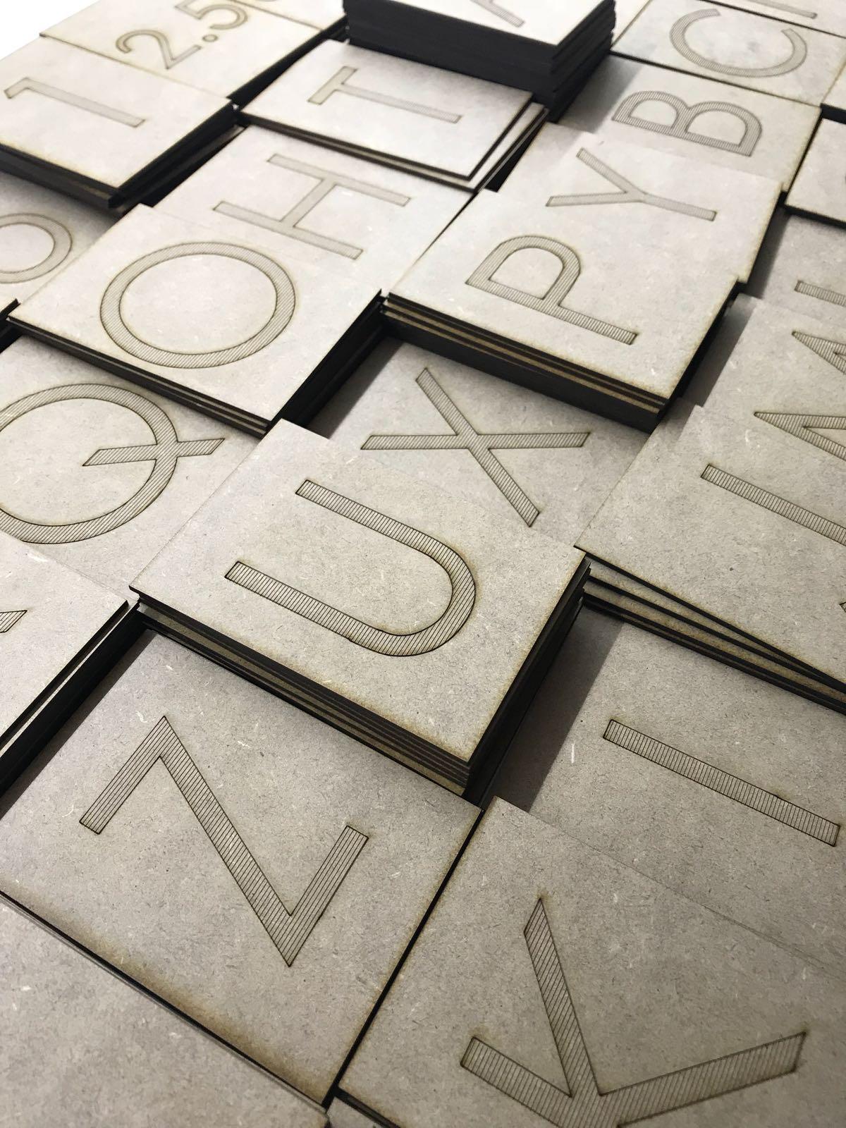 corte laser letras madera DM